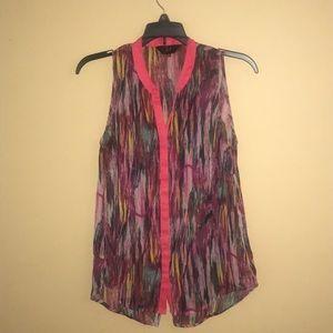 Jack sleeveless blouse top sz M.